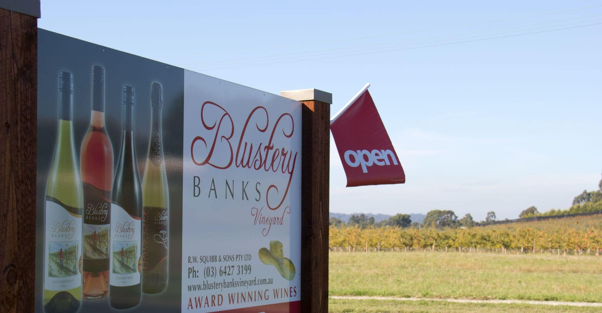 Blustery Banks Vineyard EntrySign